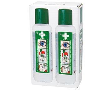 grünes Augen-Spül-Mittel