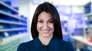 ein Portrait von einer Mitarbeiterin
