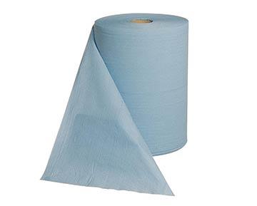 blaue Industrie-Putzrolle aus Papier