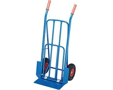 blaue Stahlrohr-Transport-Karre
